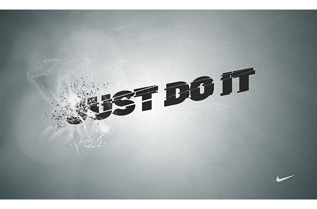 Exploding Nike poster. Just do it.