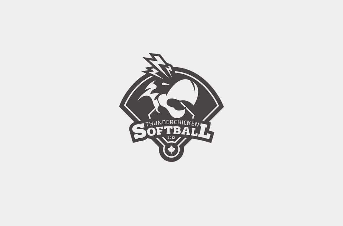Thunderchicken Softball logo