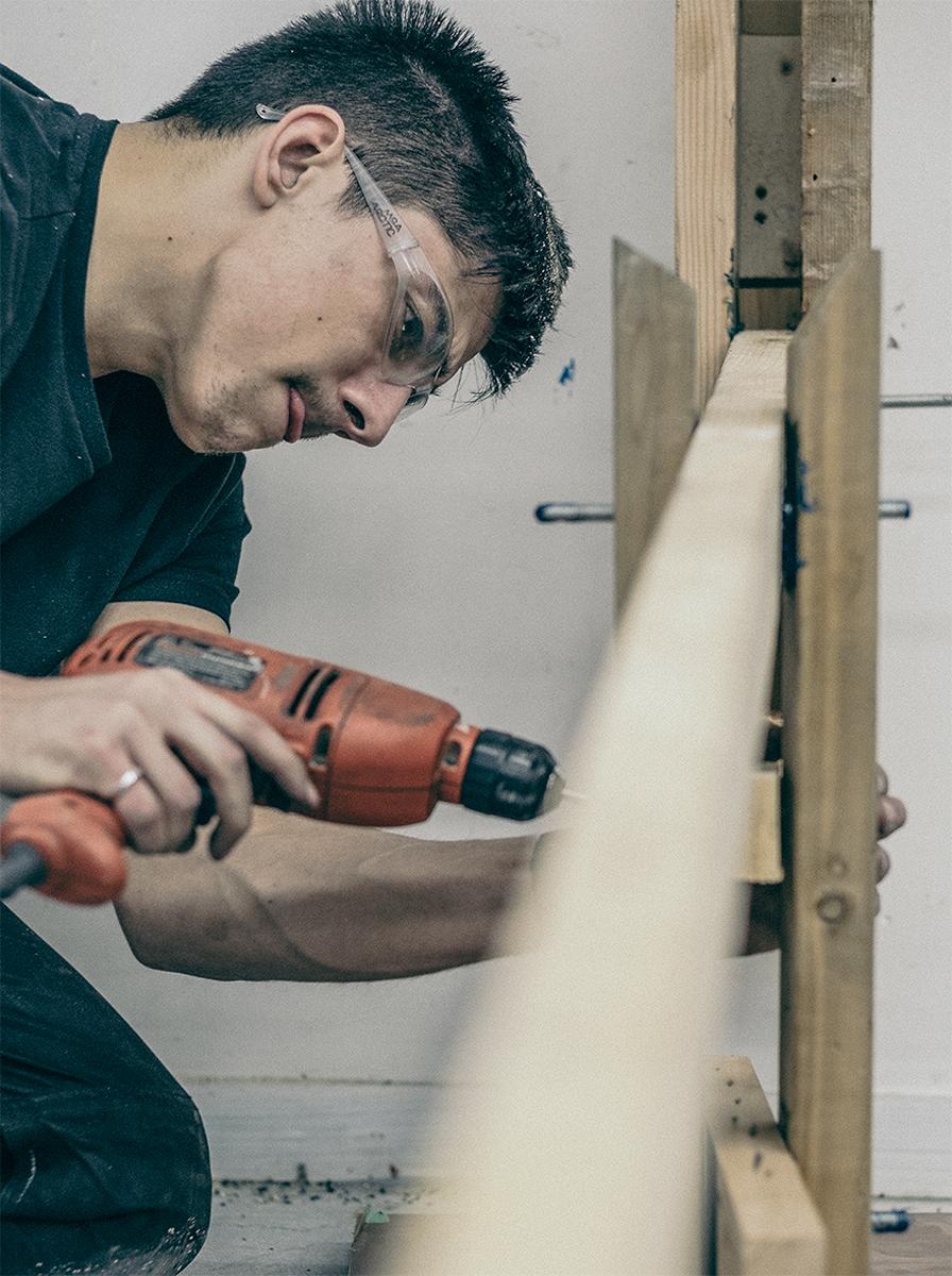 Alex drilling