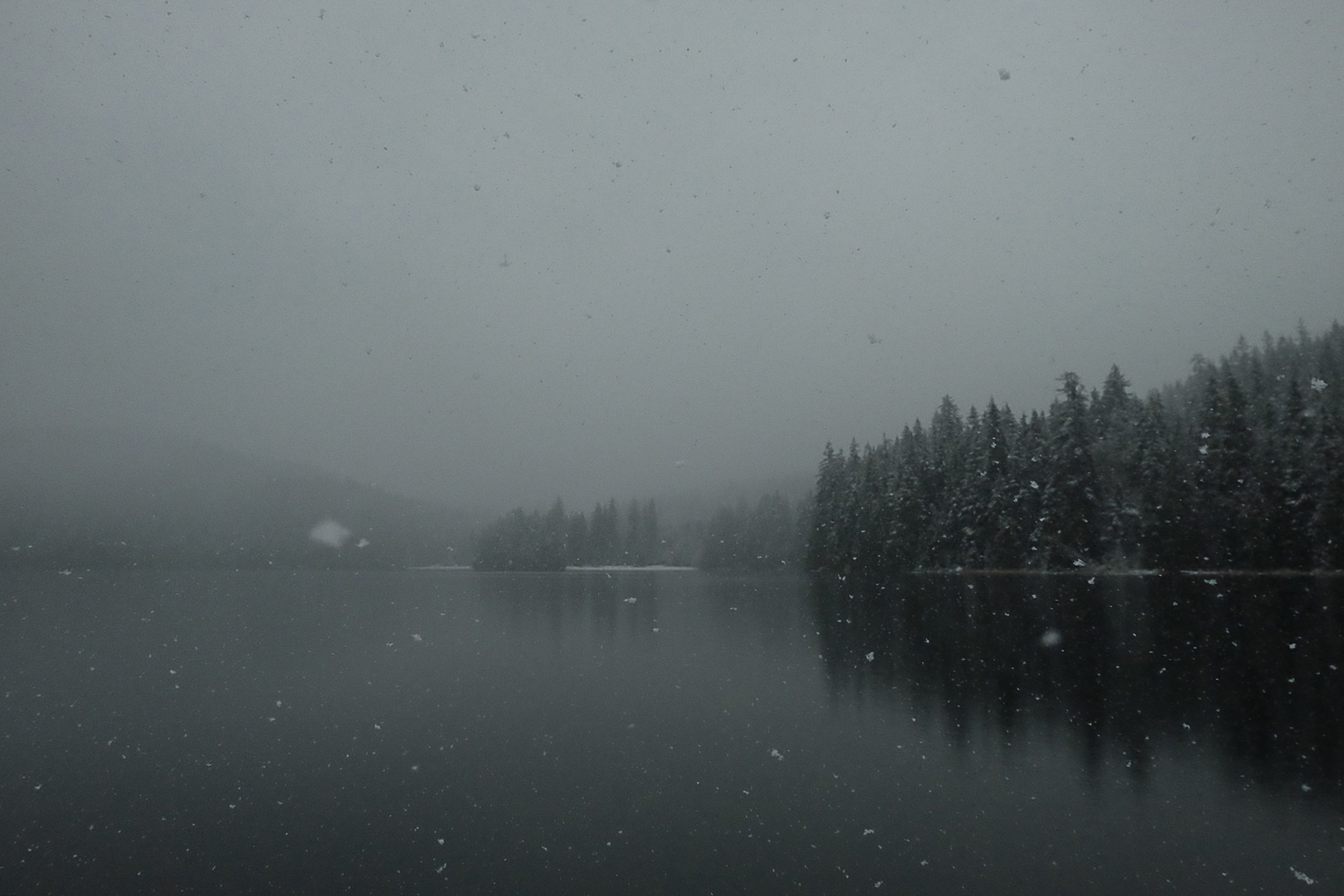 Sasamat Lake Winter Snowfall