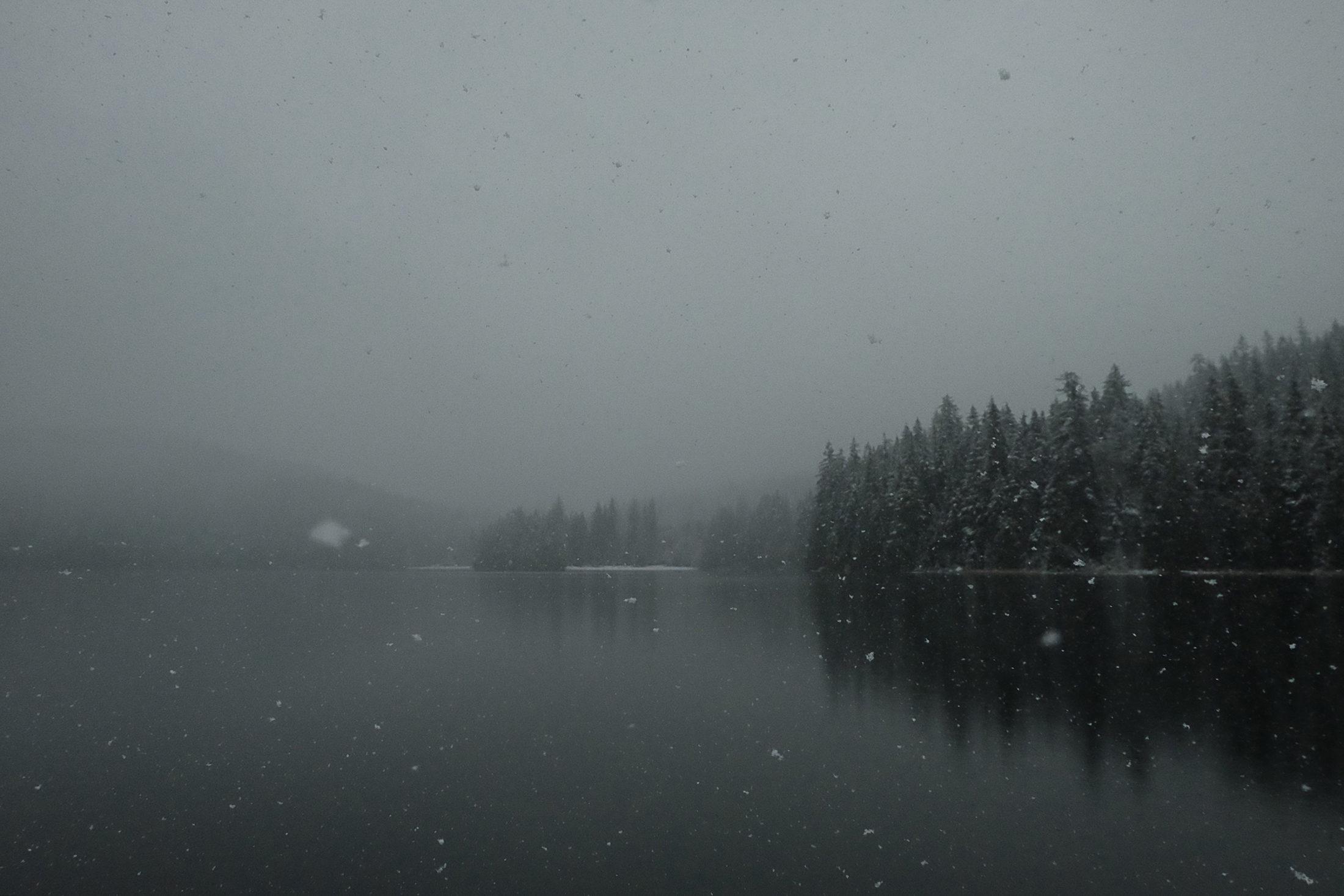 Sasamat Lake Winter Snowfall